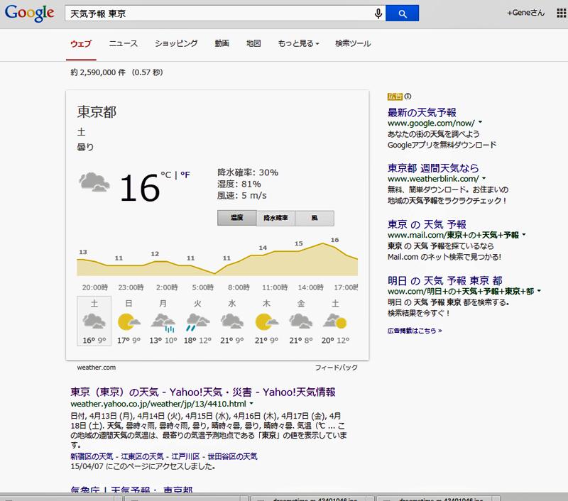 天気予報東京